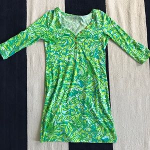 Lily Pulitzer Small Shift Dress 3/4 Sleeve